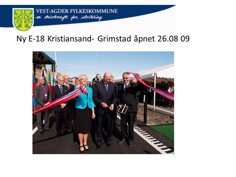Ny E-18 Kristiansand- Grimstad åpnet 26.08 09