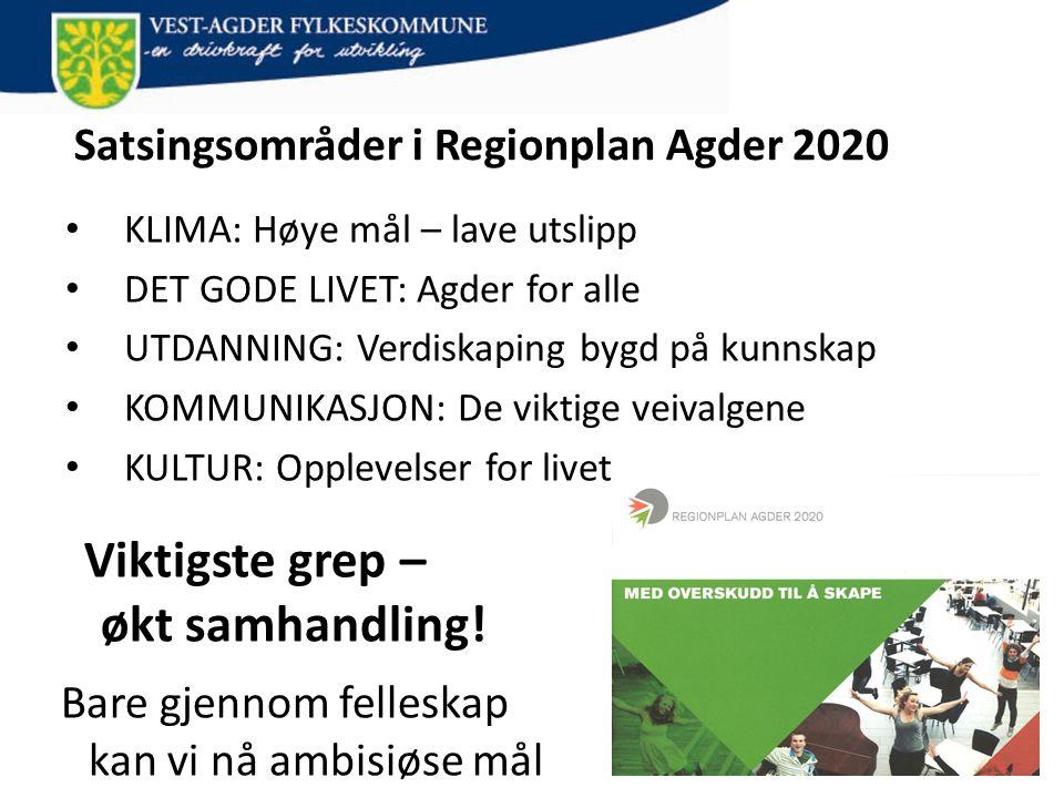 Satsingsområder i Regionplan Agder 2020