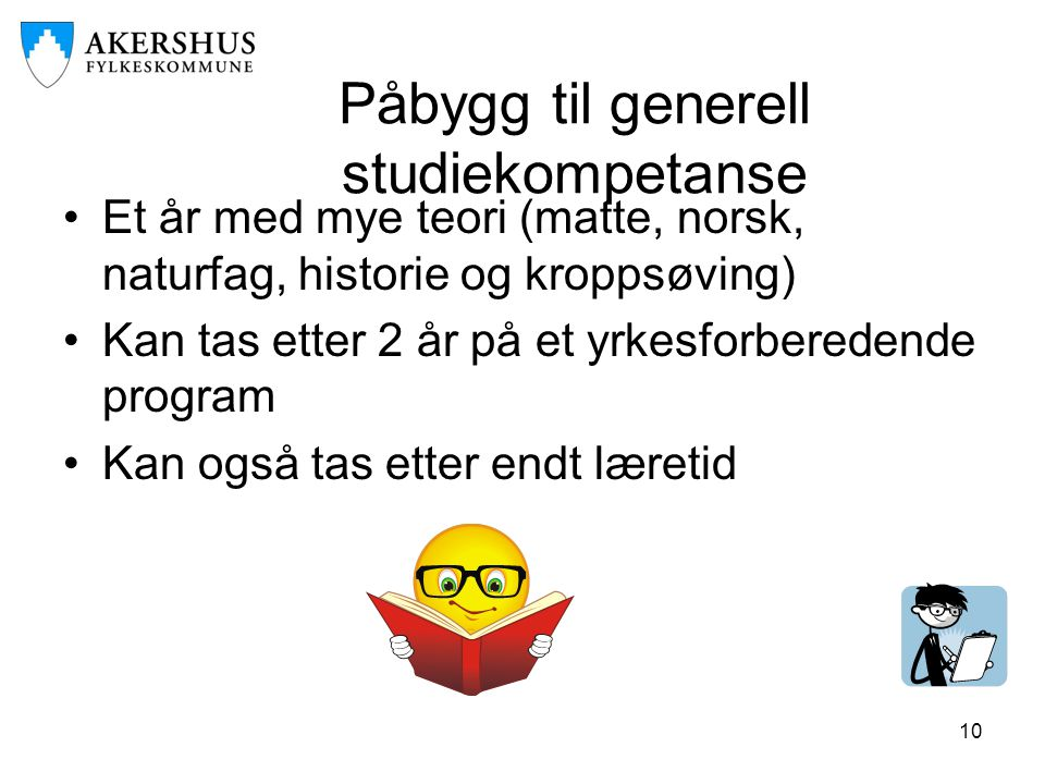 Påbygg til generell studiekompetanse