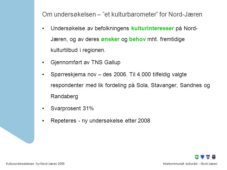 Om undersøkelsen – et kulturbarometer for Nord-Jæren