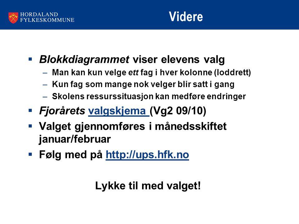 Videre Blokkdiagrammet viser elevens valg
