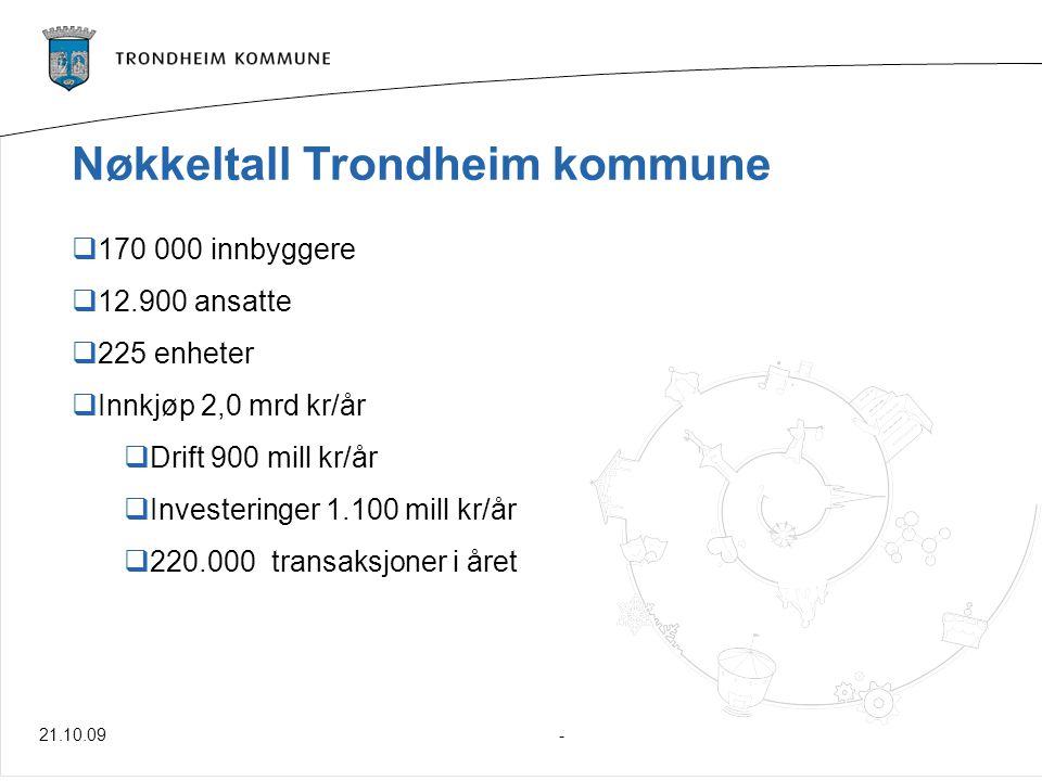 Nøkkeltall Trondheim kommune