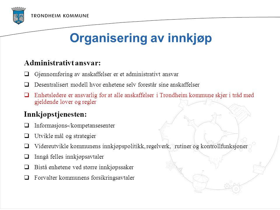 Organisering av innkjøp