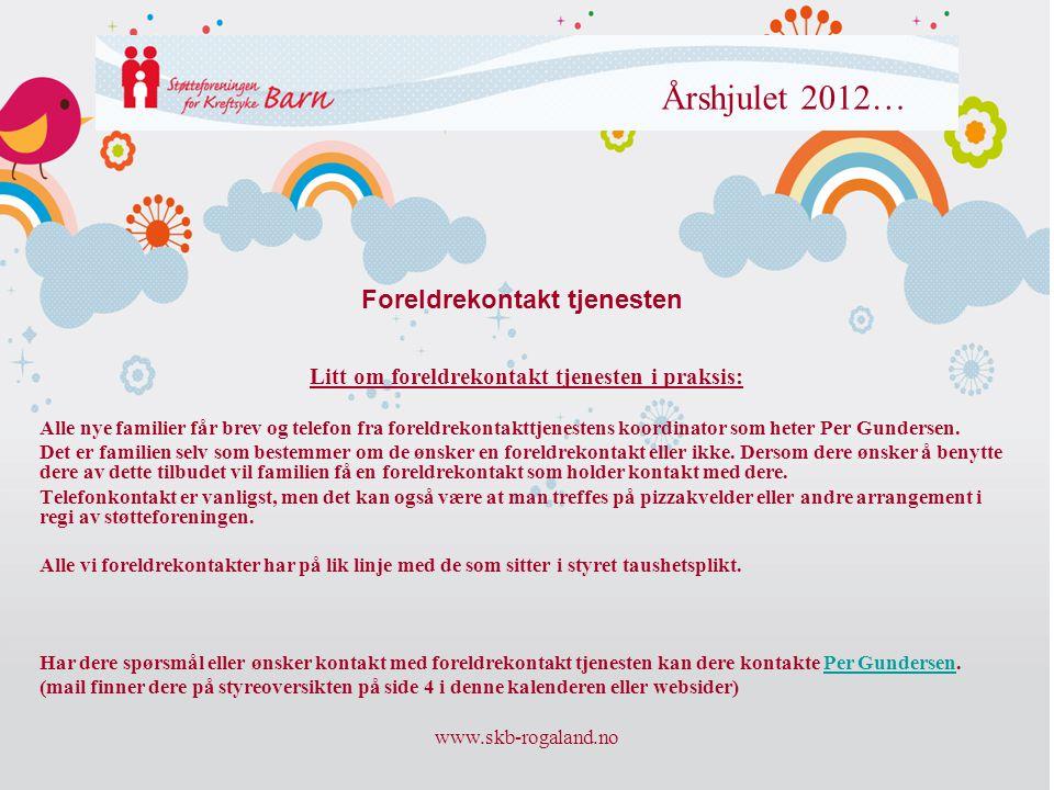 Foreldrekontakt tjenesten Litt om foreldrekontakt tjenesten i praksis: