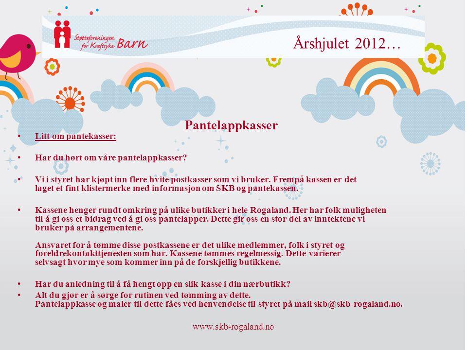 Årshjulet 2012… Pantelappkasser Litt om pantekasser: