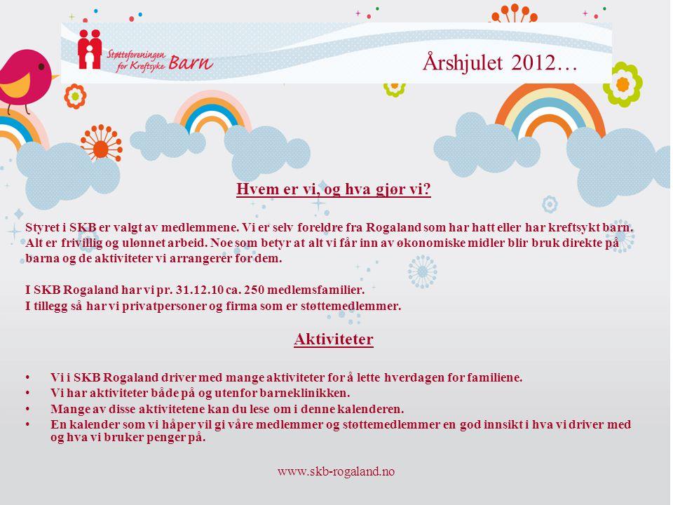 Årshjulet 2012… Hvem er vi, og hva gjør vi Aktiviteter