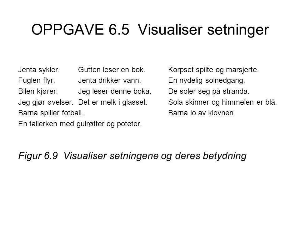 OPPGAVE 6.5 Visualiser setninger
