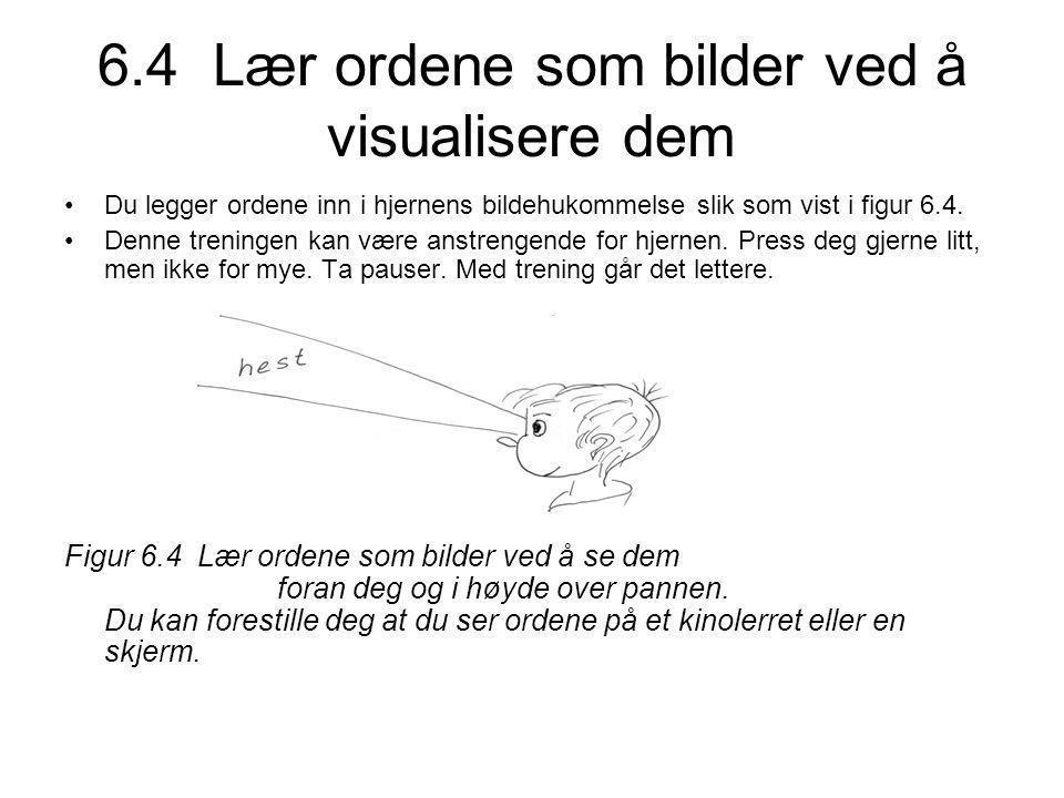 6.4 Lær ordene som bilder ved å visualisere dem