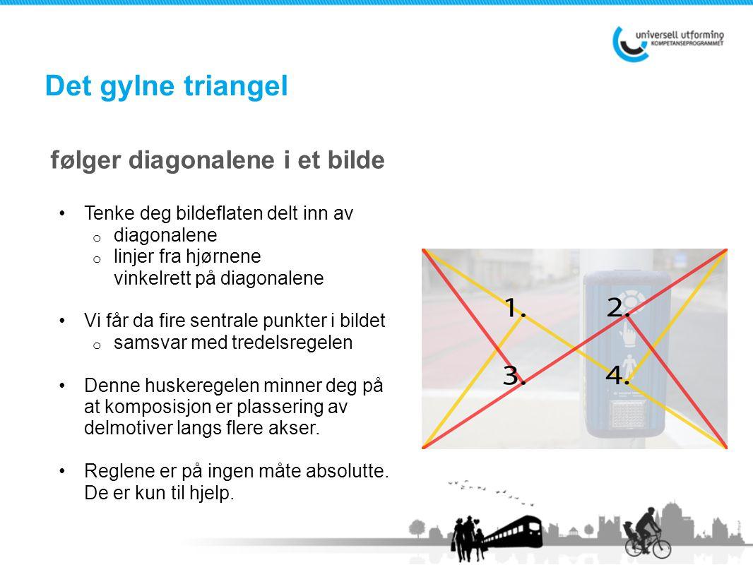 Det gylne triangel følger diagonalene i et bilde