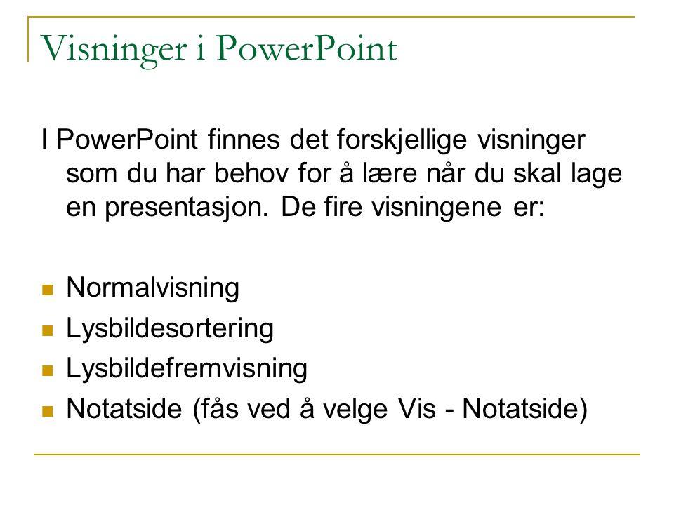 Visninger i PowerPoint