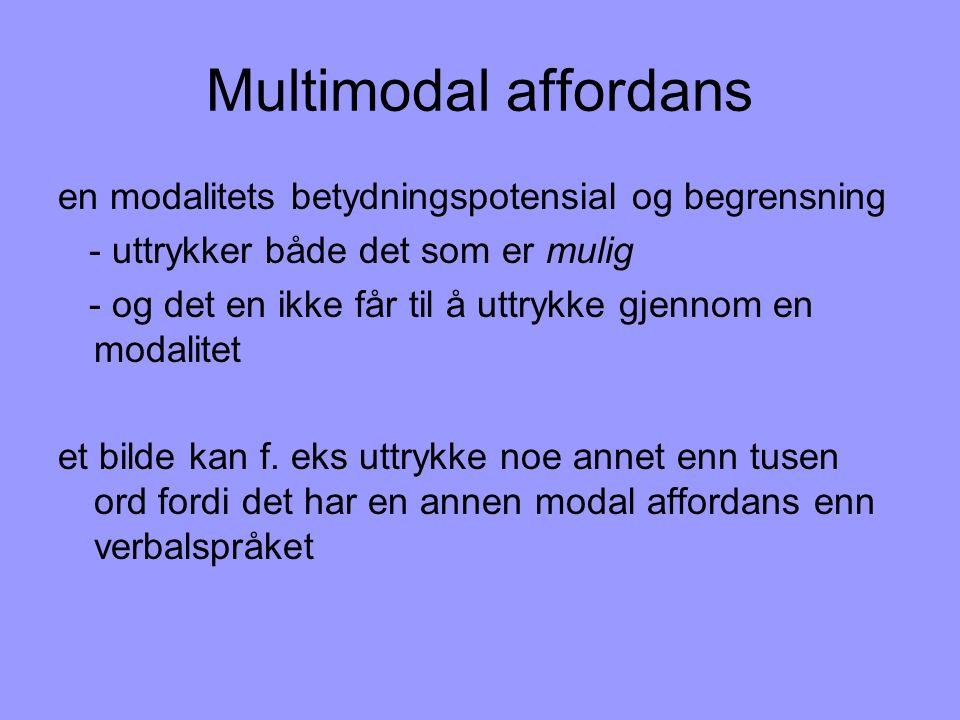 Multimodal affordans en modalitets betydningspotensial og begrensning
