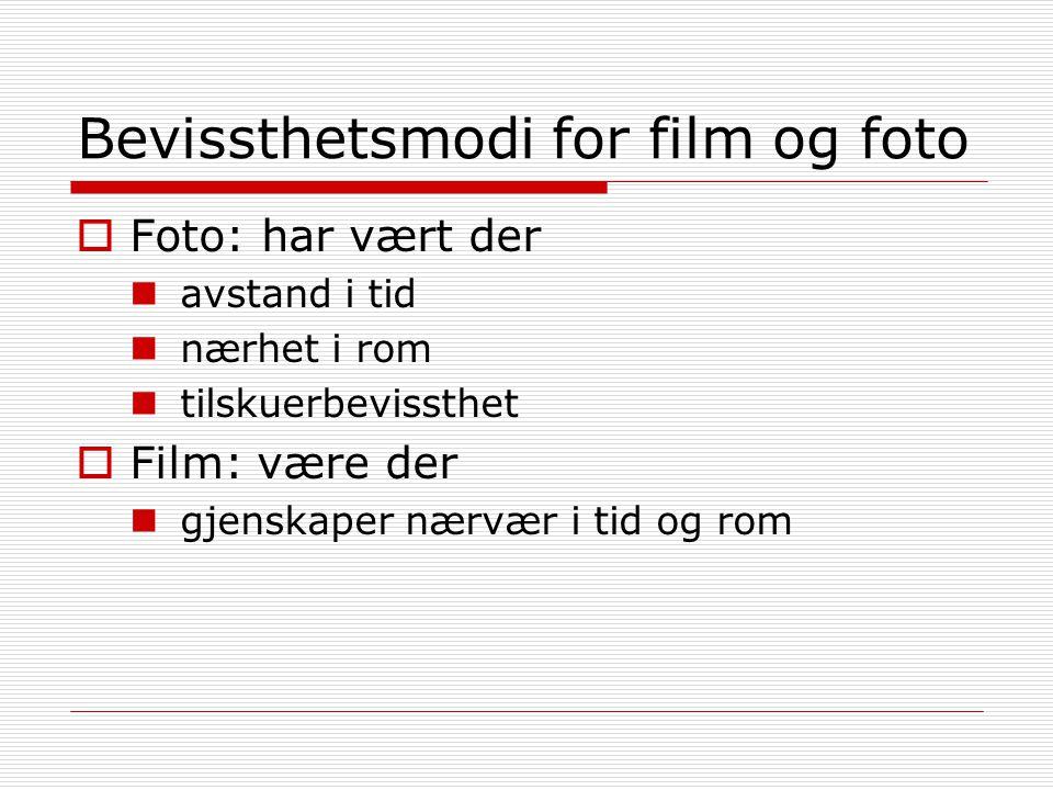 Bevissthetsmodi for film og foto