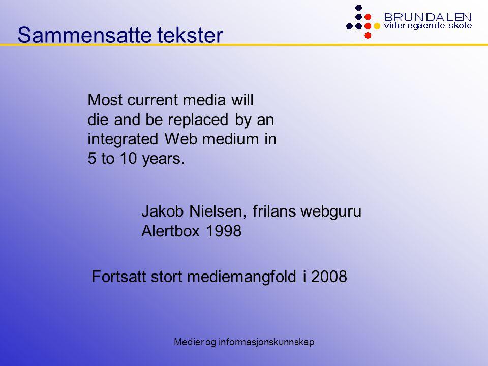 Medier og informasjonskunnskap