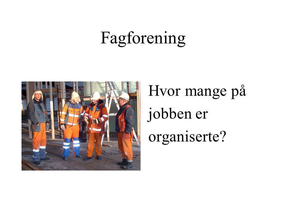 Fagforening Hvor mange på jobben er organiserte