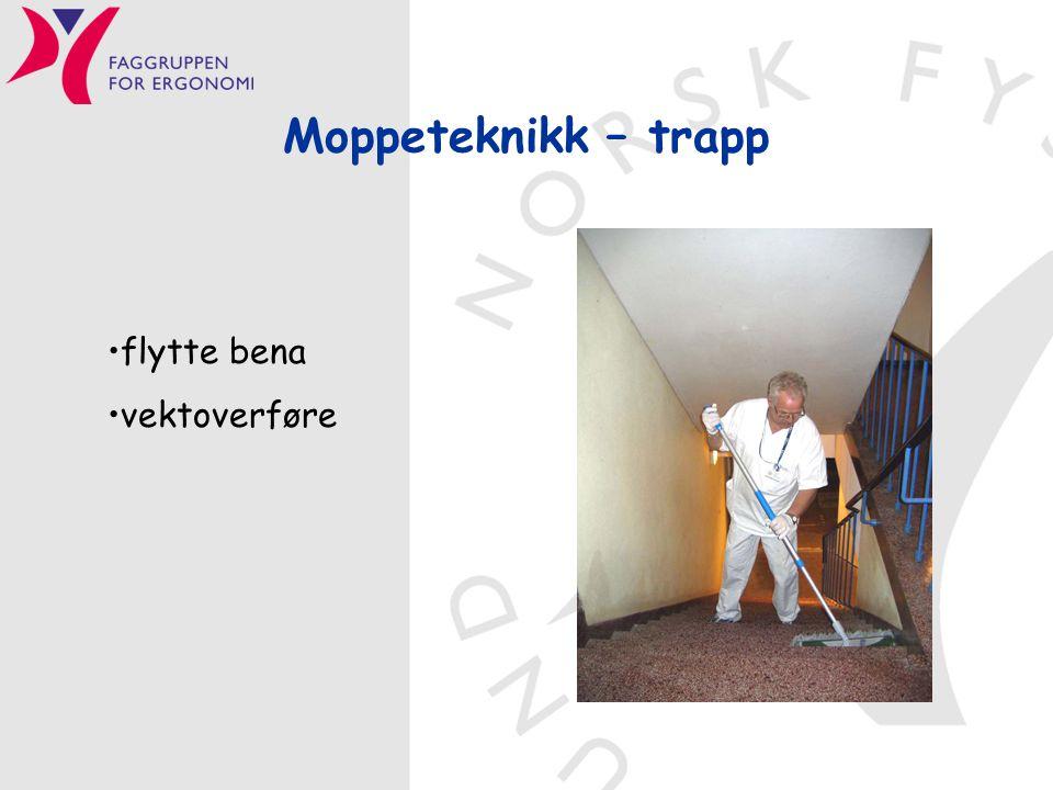 Moppeteknikk – trapp flytte bena vektoverføre