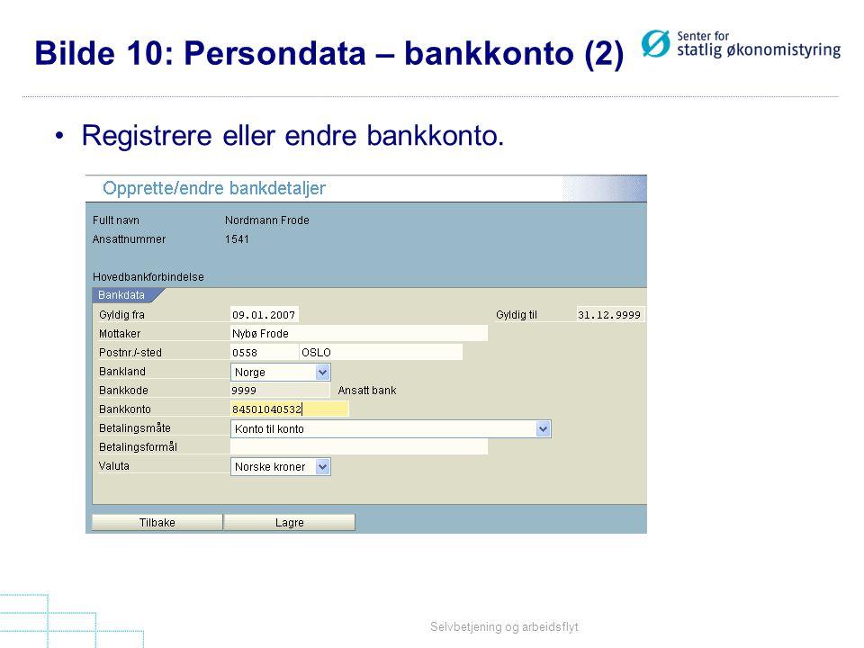 Bilde 10: Persondata – bankkonto (2)