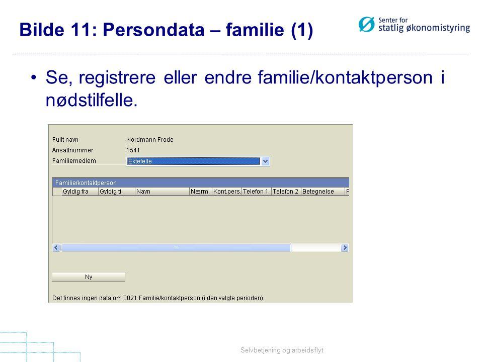 Bilde 11: Persondata – familie (1)