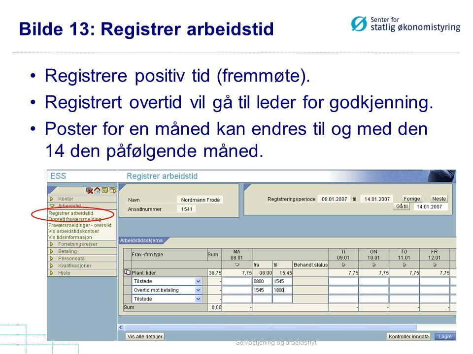 Bilde 13: Registrer arbeidstid
