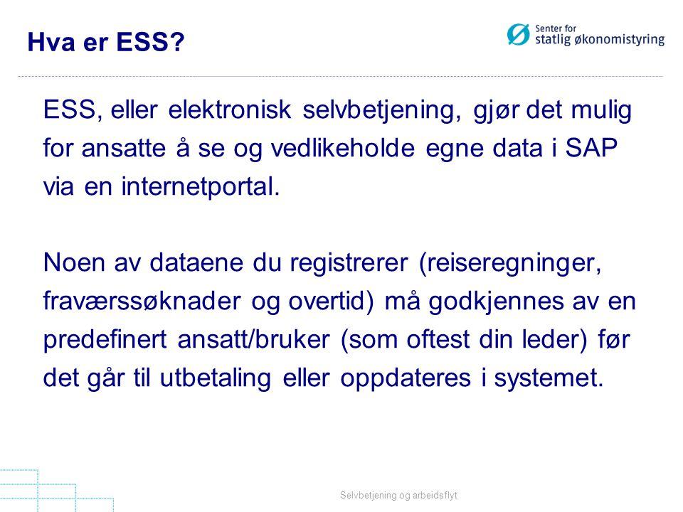 ESS, eller elektronisk selvbetjening, gjør det mulig
