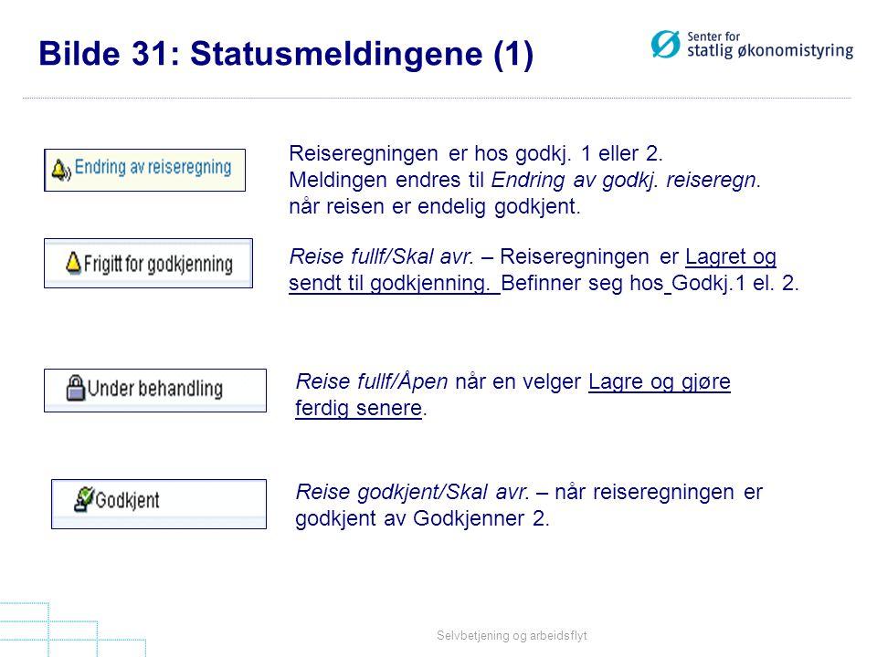 Bilde 31: Statusmeldingene (1)