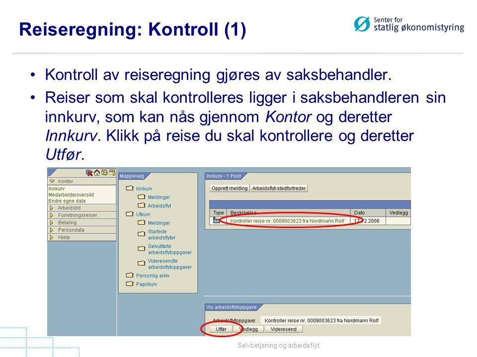 Reiseregning: Kontroll (1)