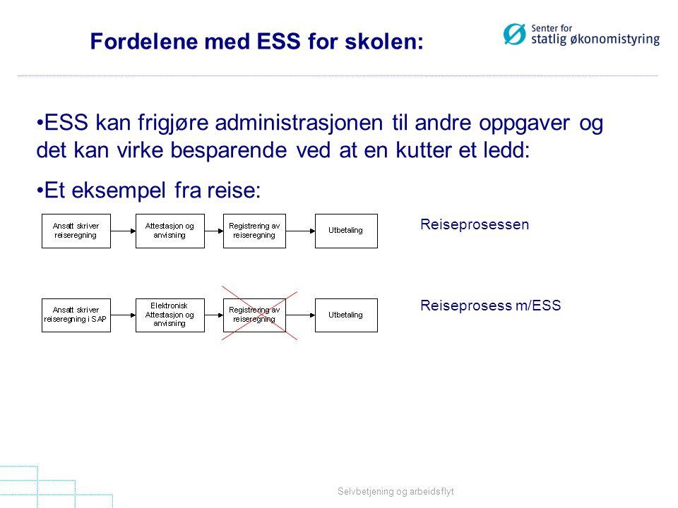 Fordelene med ESS for skolen: