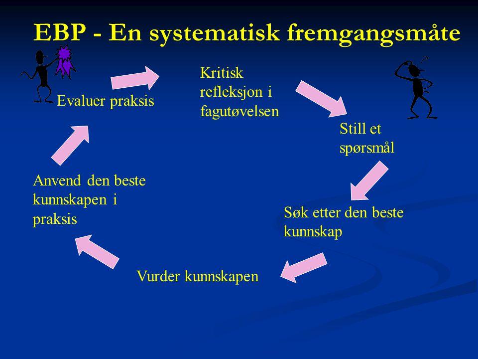 EBP - En systematisk fremgangsmåte