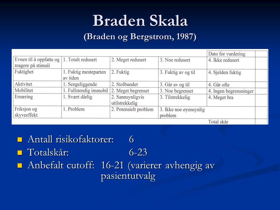 Braden Skala (Braden og Bergstrom, 1987)