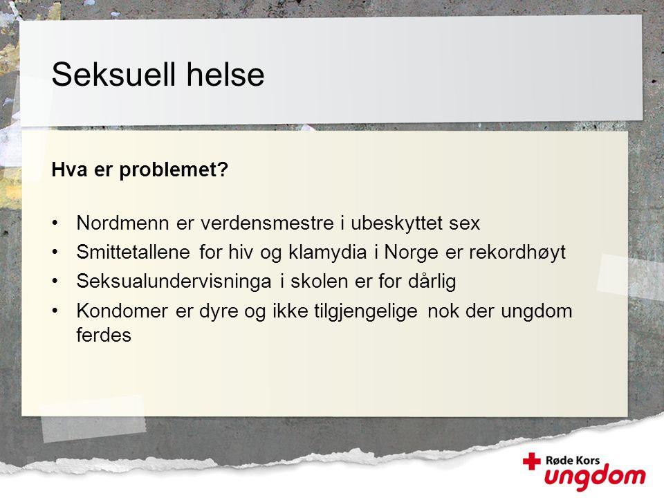 Seksuell helse Hva er problemet