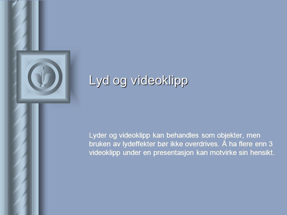Lyd og videoklipp