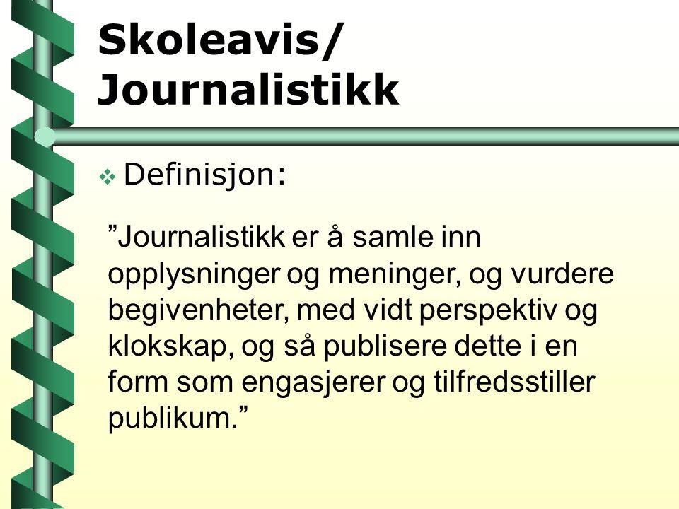 Skoleavis/ Journalistikk