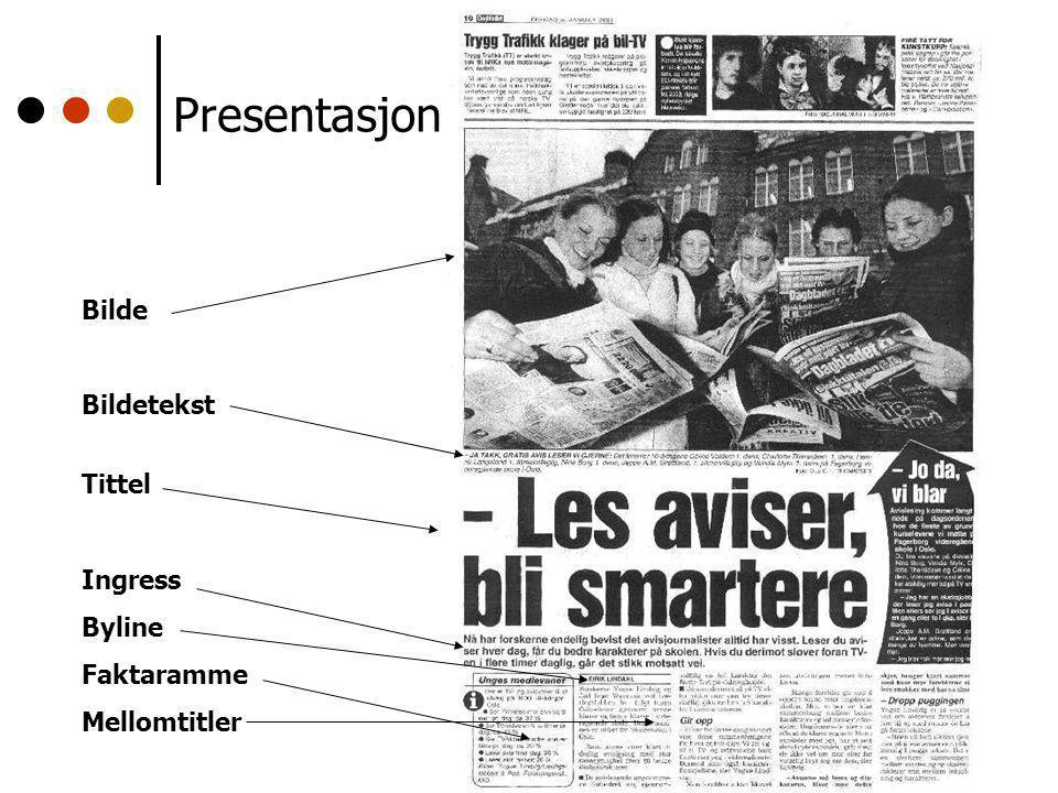 Presentasjon Bilde Bildetekst Tittel Ingress Byline Faktaramme