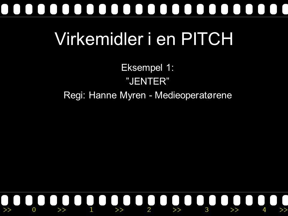 Eksempel 1: JENTER Regi: Hanne Myren - Medieoperatørene