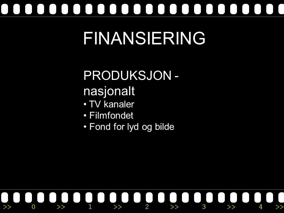 FINANSIERING PRODUKSJON -nasjonalt TV kanaler Filmfondet