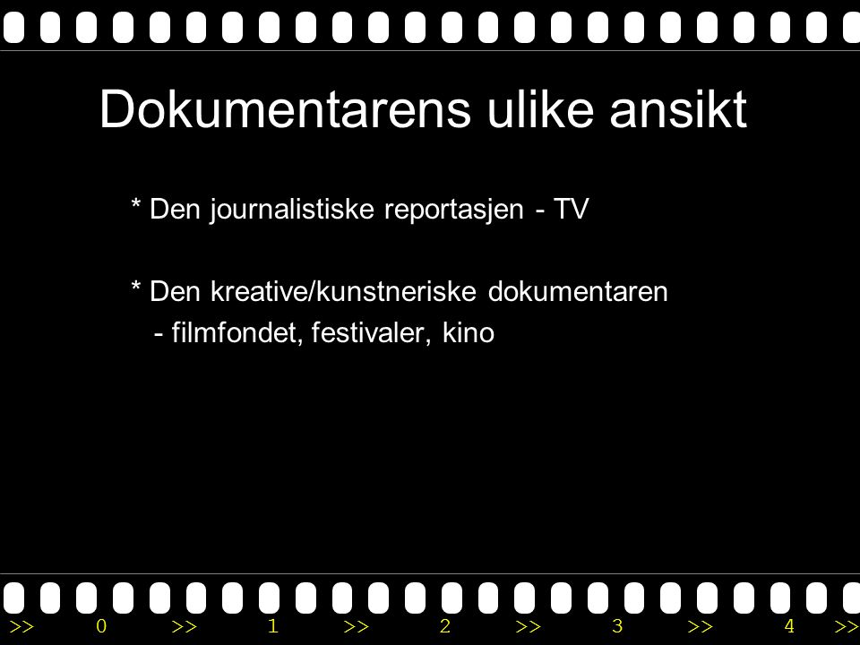 Dokumentarens ulike ansikt