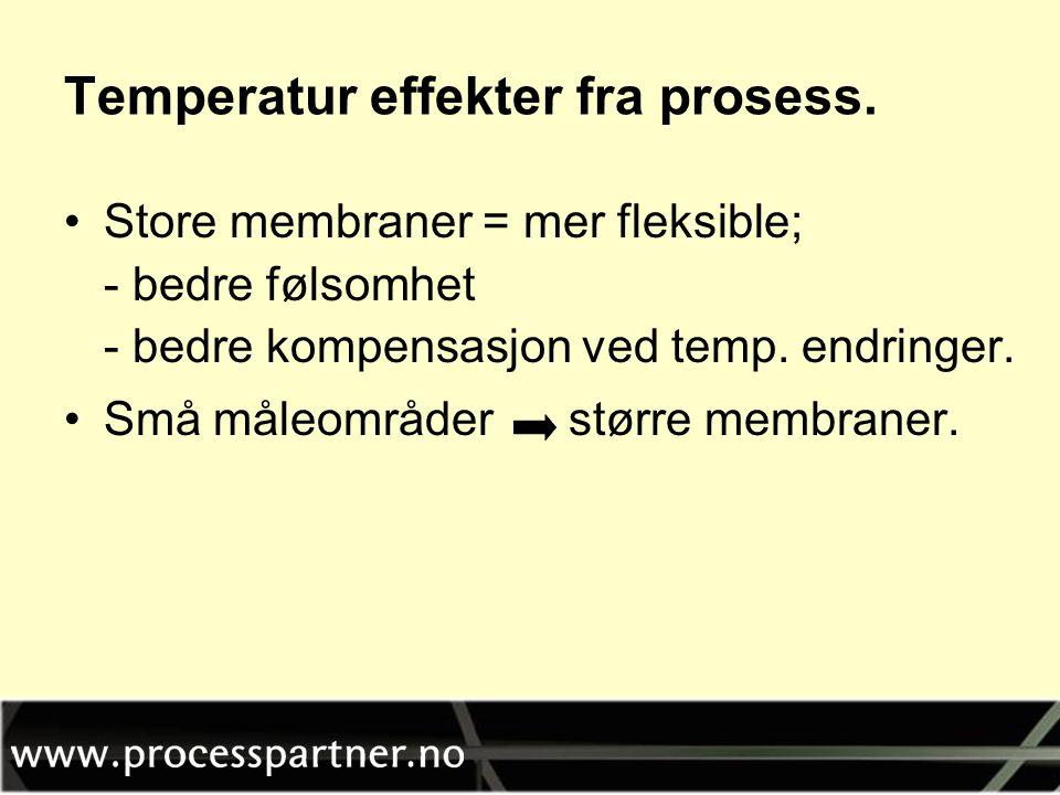 Temperatur effekter fra prosess.