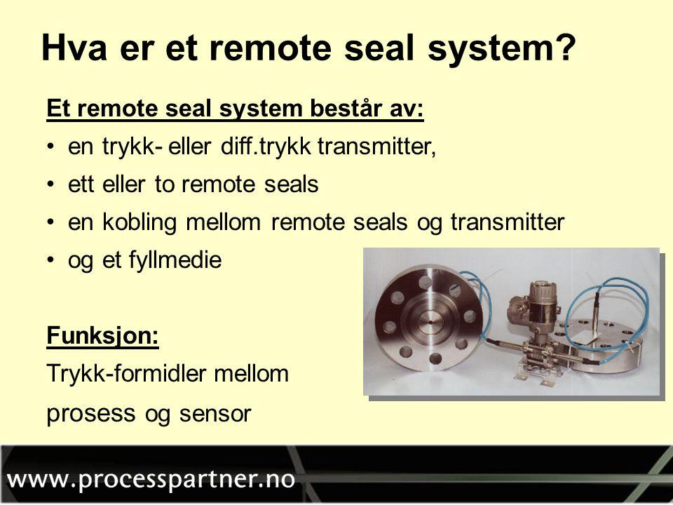 Hva er et remote seal system
