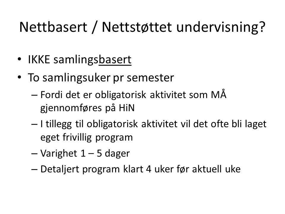 Nettbasert / Nettstøttet undervisning