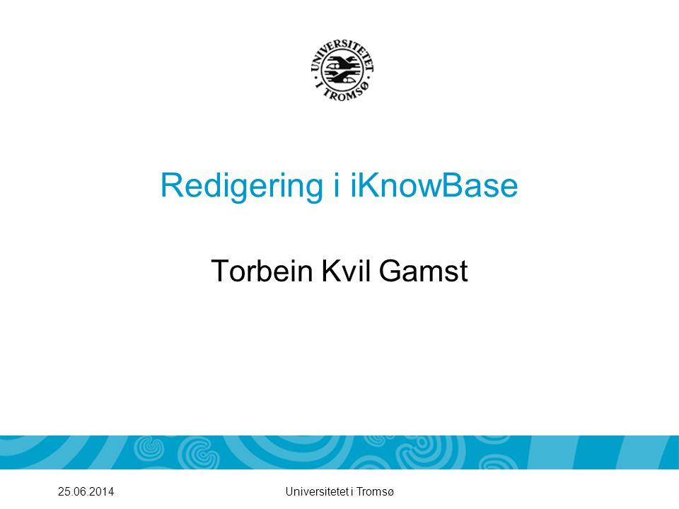 Redigering i iKnowBase