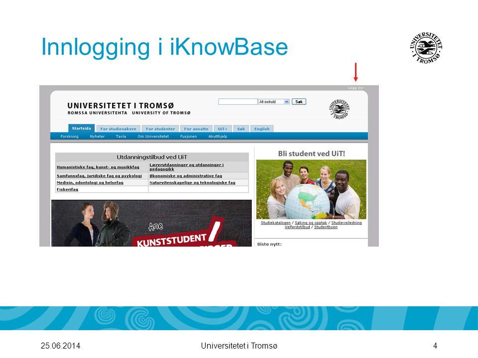 Innlogging i iKnowBase