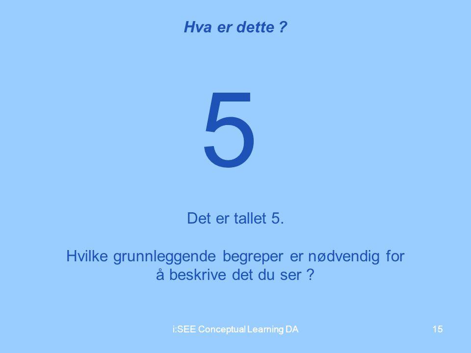 5 Hva er dette Det er tallet 5.