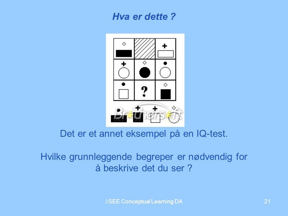 Det er et annet eksempel på en IQ-test.