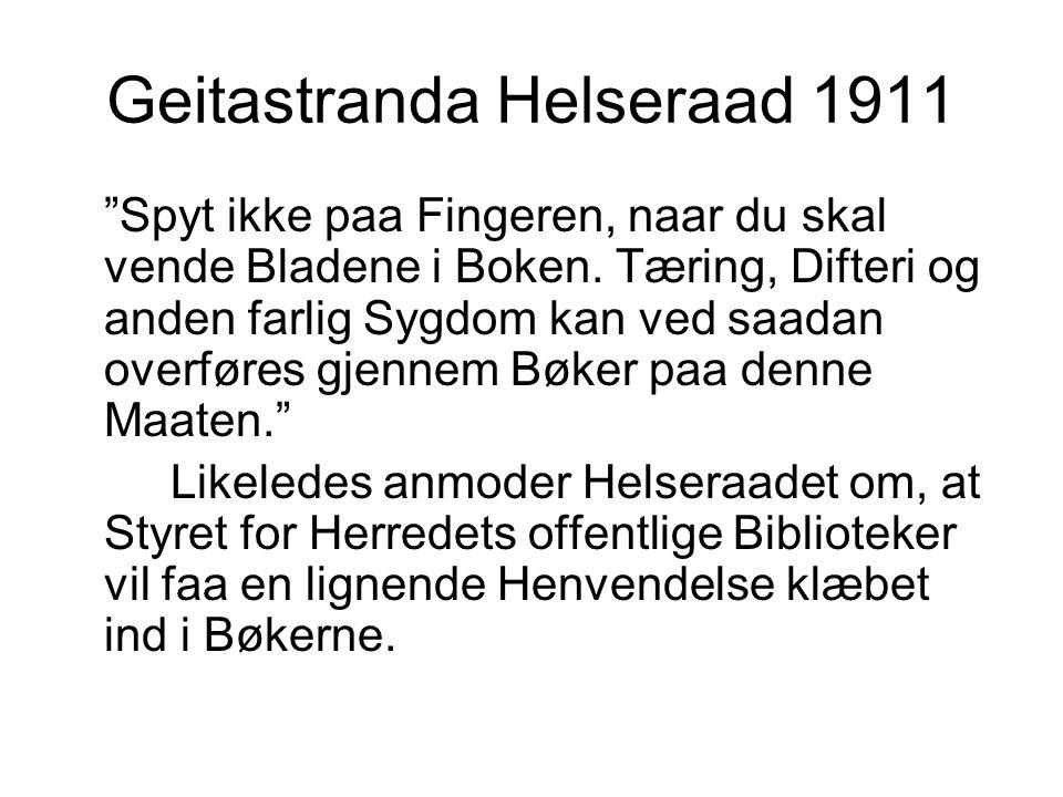 Geitastranda Helseraad 1911
