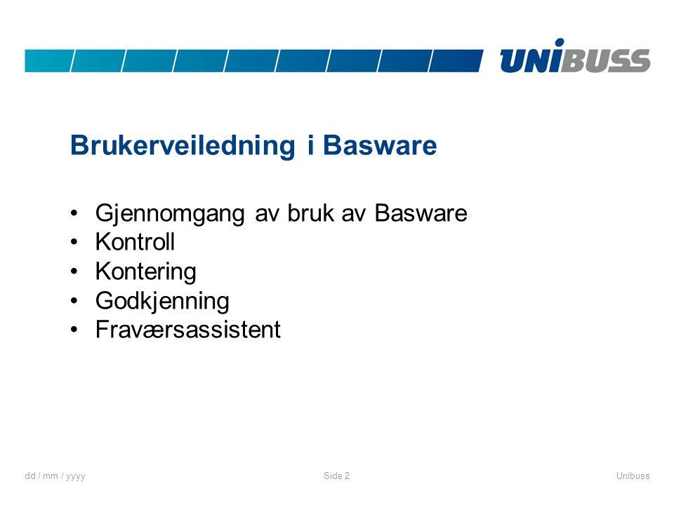 Brukerveiledning i Basware
