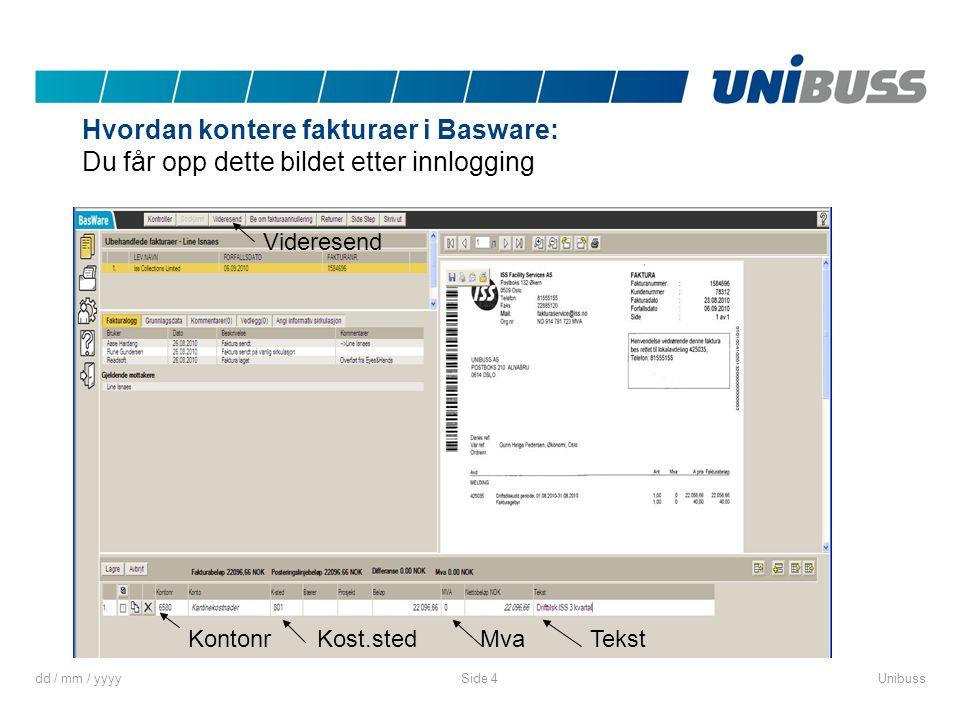 Hvordan kontere fakturaer i Basware:
