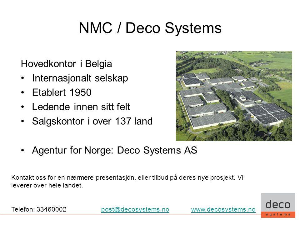 NMC / Deco Systems Hovedkontor i Belgia Internasjonalt selskap
