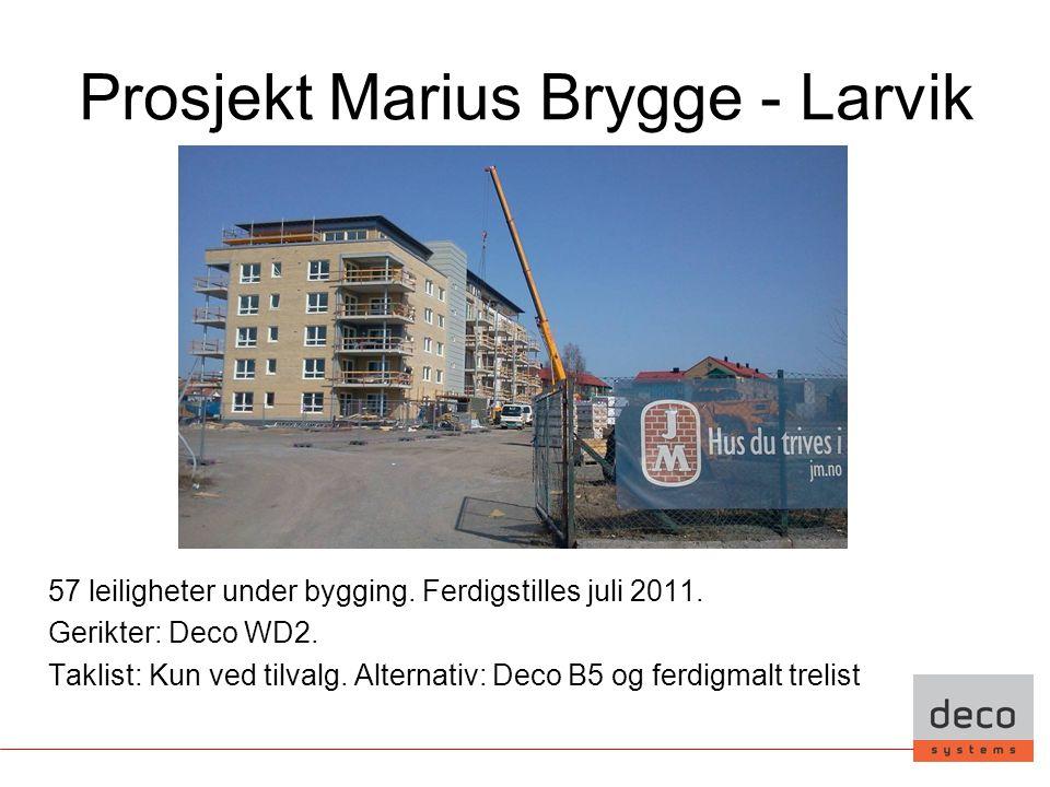 Prosjekt Marius Brygge - Larvik