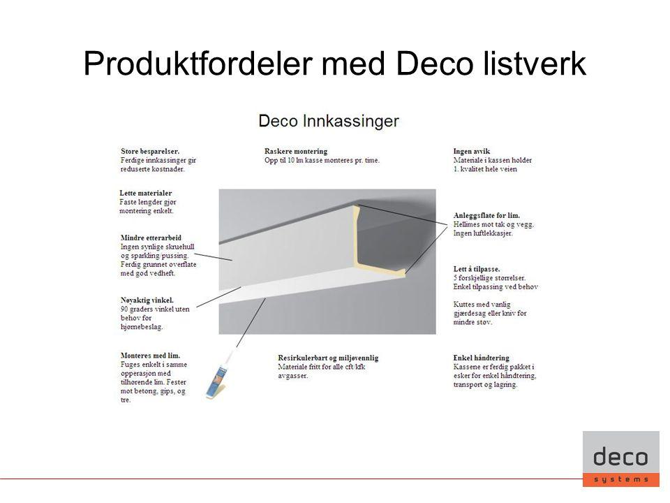 Produktfordeler med Deco listverk