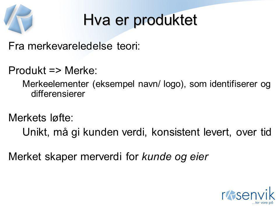 Hva er produktet Fra merkevareledelse teori: Produkt => Merke: