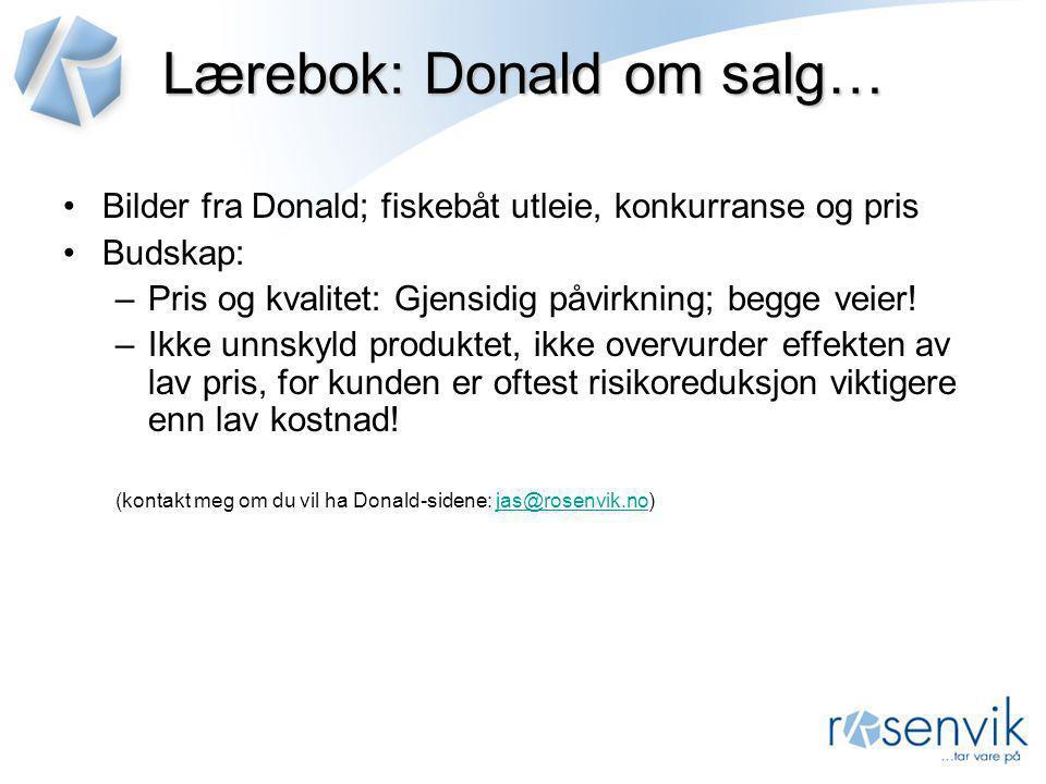Lærebok: Donald om salg…